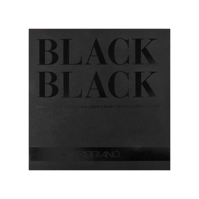 Fabriano - Black Black Block Tiefschwarz 20x20cm A5+