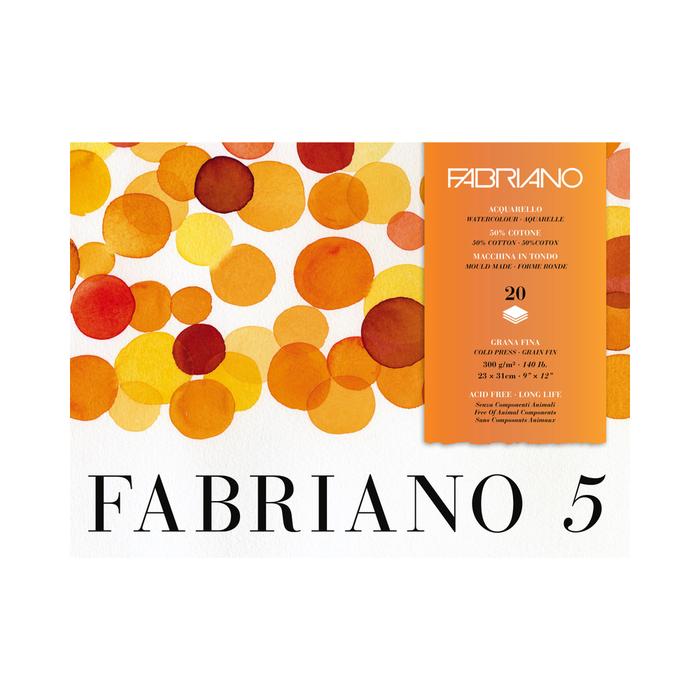 Fabriano - Fabriano 5 Aquarellpapier Feinkorn