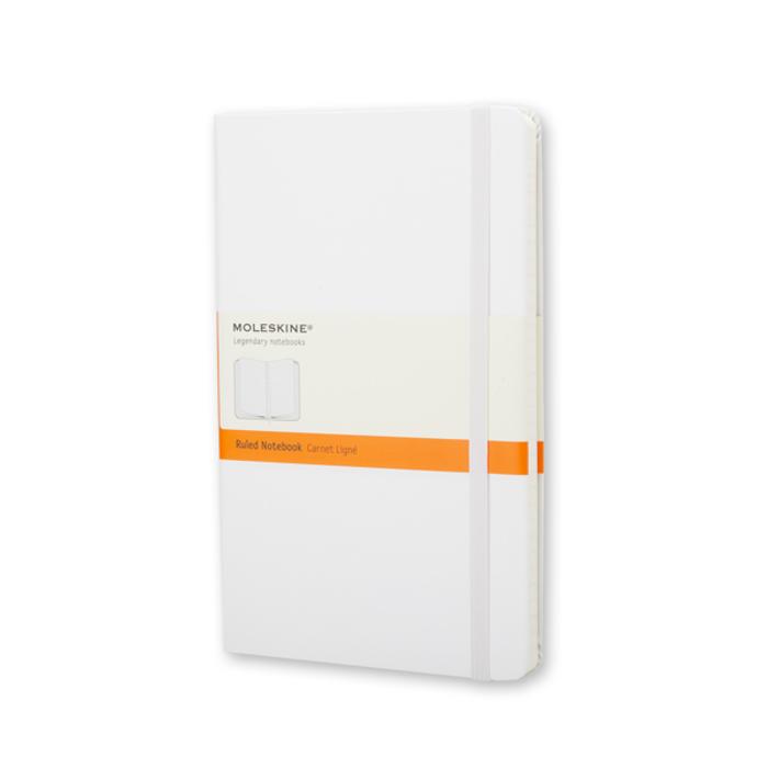 Moleskine - White Notebook Pocket Liniert