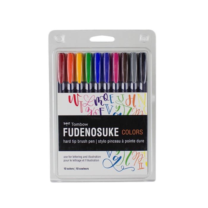 Tombow - Kalligraphie Stifte Fudenosuke Colors 10er Set