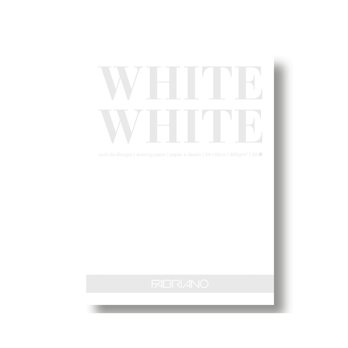 Fabriano - White White Block Strahlweiss A4