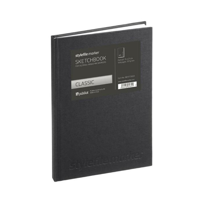 Stylefile - Marker Sketchbook Classic Blackbook A4 hoch