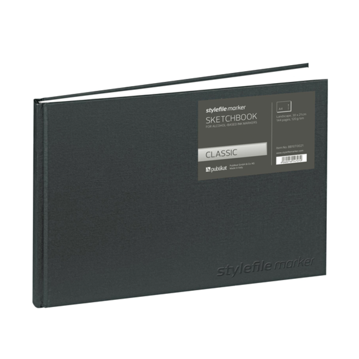 Stylefile - Marker Sketchbook Classic Blackbook A4 quer