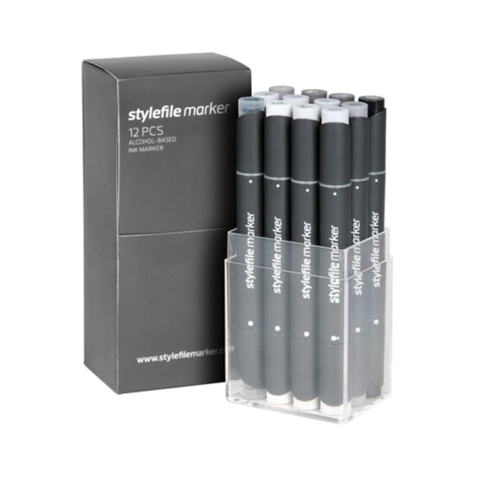 Stylefile - Marker Set 12er Natural Grey